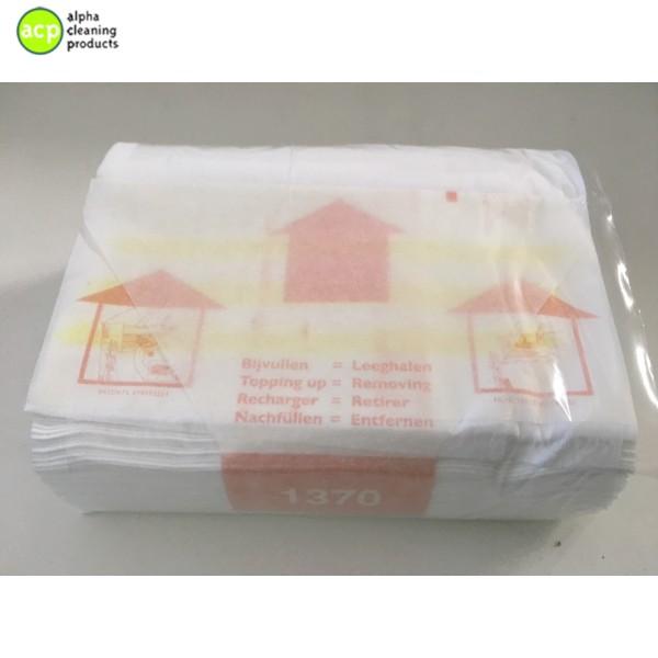 VENDOR 1370 Handdoekcassettes katoen non woven 18 x 25m 18x25mtr  op=op -70% handdoekrollen