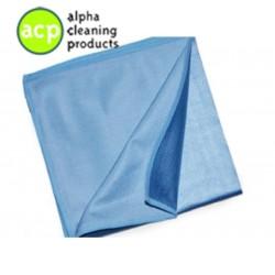 Microvezel reinigings/glasdoek Blauw per stuk