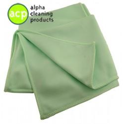 Microvezel reinigings/glasdoek groen per stuk