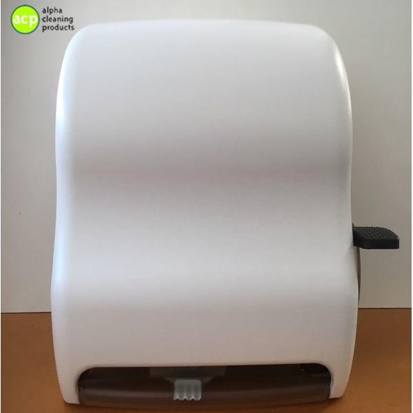 Handdoek dispenser S.J.met hendel  tbv Controlomaticrol Wit AKTIE Handdoek automaat