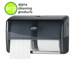 Toiletrolhouder Duo pearl black Coreless