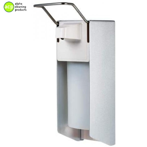 Zeepdispenser elleboog 500 ml rvs lock