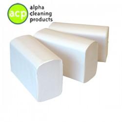 Papieren handdoekjes Z vouw cellulose hoog wit  2 laags 24 x 21 cm 3200 st