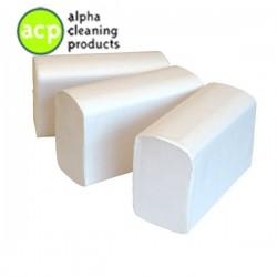 Papieren handdoekjes C vouw tissue wit 2 laags 33 x 25 cm a' 2304 stuks