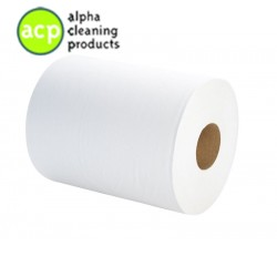 VENDOR 1572 Poetsrol 1lg Wit tissue  6 rol 350mtr 24cm breed normaal 75,02 -60% op=op