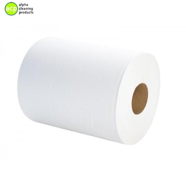 VENDOR 1572 Poetsrol 1lg Wit tissue  6 rol 350mtr 24cm breed normaal 75,02 -60% op=op   handdoekrollen