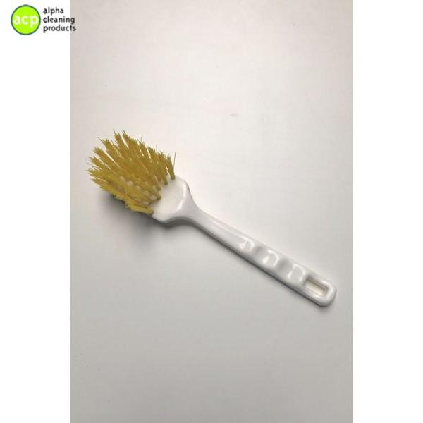 Afwasborstel, korte steel polyester GEEL  AKTIE normaal 3,25 OP=OP Afwas- & Nagelborstels