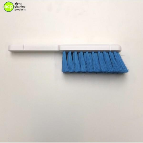 Handveger polyester gepluimd zacht Blauw op=op Stoffer en blik