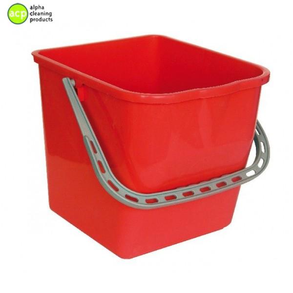 Emmer 25 liter t.b.v mopwagen ROOD Emmers- Doseersysteem