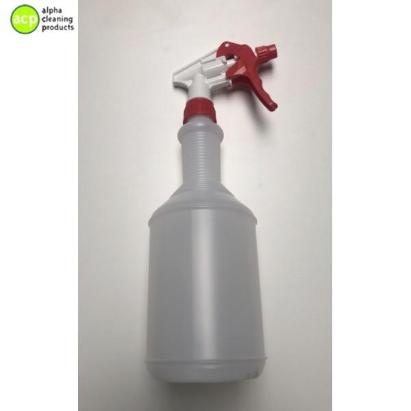 Sproeiflacon 1 ltr Sanitair rood