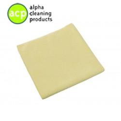 Microvezeldoek geel 40x40cm 40gr. per stuk