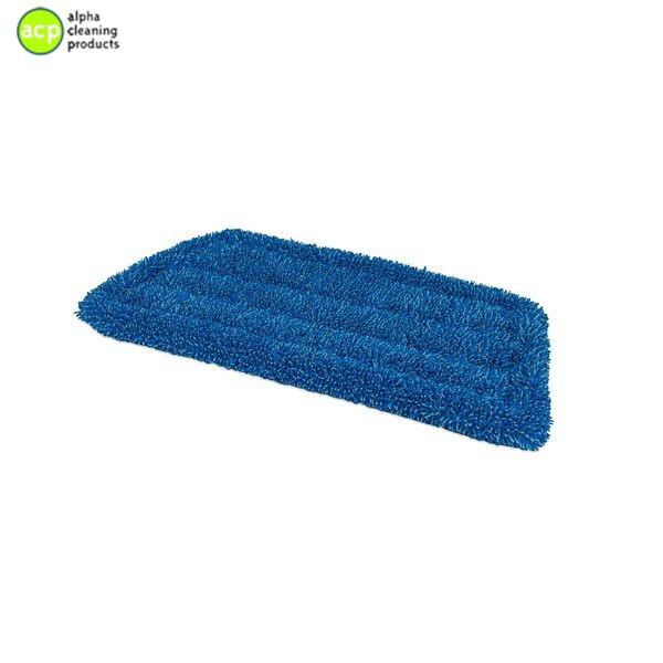 Microvezel vlakmop(klamvochtig)klittenband 28cm Blauw per stuk