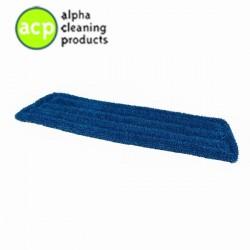 Vlakmop microvezel(klamvochtig gebruiken(45cm blauw