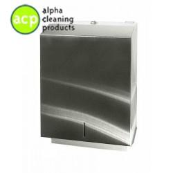 Papieren handdoekdispenser maxi RVS