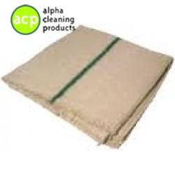 Dweil  met groenband   60 x 60 cm. groenband