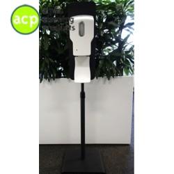 Hygienezuil met touch free dispenser op verstelbare standaard spray