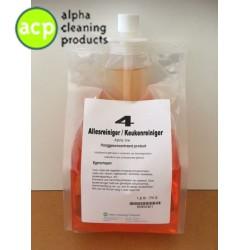 Allesreiniger/keuken Alpha Line NR4 doseersysteem  3x 1,8 ltr